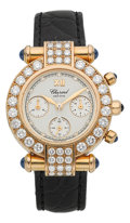 "Timepieces:Wristwatch, Chopard ""Imperiale"" Chronograph 18k Gold & Diamond Lady's Wristwatch Ref. 38/3168-23. ..."