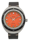 "Timepieces:Wristwatch, Gruen ""1500 Feet"" Steel Automatic Diver's Watch. ..."