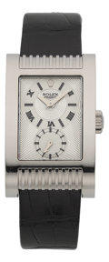 Timepieces:Wristwatch, Rolex Cellini Ref. 5441 Large White Gold Prince Chronometer, circa2005. ...