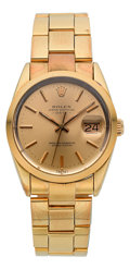 Timepieces:Wristwatch, Rolex Ref. 15505 Gold & Steel Oyster Perpetual Date, circa 1985. ...