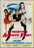 "Movie Posters:Action, In Like Flint (20th Century Fox, 1966). Italian 4 - Fogli (55.25"" X78.5""). Action.. ..."