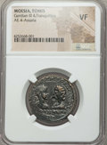 Ancients:Roman Provincial , Ancients: MOESIA INFERIOR. Tomis. Gordian III (AD 238-244), withTranquillina. Æ tetrassarion....