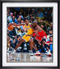 Basketball Collectibles:Photos, 2010's Kobe Bryant & Michael Jordan Signed Large Photograph.....