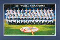 Baseball Collectibles:Others, 1961 New York Yankees Reunion Team Signed Lithograph Display. ...