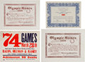 Miscellaneous Collectibles:General, 1908 London Summer Olympics Athlete-Owned Certificates Lot of 4. ...