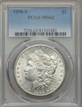Morgan Dollars: , 1898-S $1 MS62 PCGS. PCGS Population: (668/2954). NGC Census: (470/1374). Mintage 4,102,000. ...