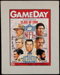 Football Collectibles:Photos, 1990 Football Greats Signed Hall of Fame Game Program Cover....