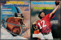 Football Collectibles:Publications, Ken Stabler Signed Sports Illustrated Magazines Lot of 2....