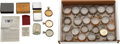 Timepieces:Other , Twenty Display Cases, Four Ball Cases & Bunn Special Box. ... (Total: 25 Items)