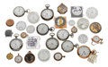 Timepieces:Other , Seventeen Watches (One Gold) & Eleven Dials. ... (Total: 28 Items)