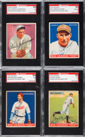 Autographs:Sports Cards, Signed 1933 Goudey Baseball HoFers SGC Authentic Group (4). ...