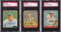Baseball Cards:Lots, Signed 1933 Goudey Hall of Fame Baseball SGC Authentic Trio (3)....