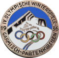 Miscellaneous Collectibles:General, 1936 Garmisch-Partenkirchen Winter Olympics Commemoration Pin....