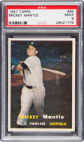 Baseball Cards:Singles (1950-1959), 1957 Topps Mickey Mantle #95 PSA Mint 9....