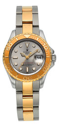 Timepieces:Wristwatch, Rolex Yacht Master Ref. 69623 Lady's Two Tone Oyster PerpetualWristwatch . ...