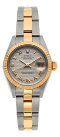 Timepieces:Wristwatch, Rolex Datejust Ref. 79173 Lady's Two Tone Oyster Perpetual Wristwatch Circa 2002. ...