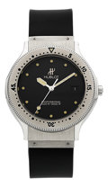 Timepieces:Wristwatch, Hublot MDM Stainless Steel Automatic Professional Diving WristwatchRef. S 154 10 1. ...