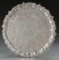 Silver Holloware, British:Holloware, A William Nolan George IV Irish Silver Footed Salver, Dublin,Ireland, circa 1825. Marks: (crowned harp), (Hibernia), (duty ...