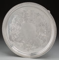 Silver Holloware, American:Trays, A Large Tiffany & Co. Silver Footed Salver, New York, New York,circa 1854-1869. Marks: TIFFANY & CO, 394 2413, GOLD &SIL...