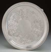 A Large Tiffany & Co. Silver Footed Salver, New York, New York, circa 1854-1869 Marks: TIFFANY & CO, 394...