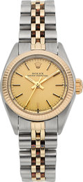 Timepieces:Wristwatch, Rolex Ref. 6719 Lady's Two Tone Oyster Perpetual Wristwatch Circa1982. ...