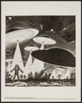 "Movie Posters:Science Fiction, Earth vs. the Flying Saucers (Columbia, 1956). Key Art Photo (8"" X10""). Science Fiction.. ..."