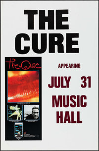 """The Cure (Elektra Records, 1987). Concert Posters (5) Identical (24.5"""" X 37.5""""). Rock and Roll. ... (Total: 5..."""