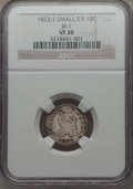 Bust Dimes, 1823/2 10C Small E's, JR-1, R.3, VF30 NGC. NGC Census: (1/4). PCGSPopulation: (1/5). Mintage 440,000. ...