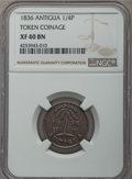 Antigua & Barbuda, Antigua & Barbuda: British Administration Farthing (1/4 Penny)Token 1836 XF40 Brown NGC,...