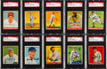 Baseball Cards:Lots, Signed 1933 & 1934 Goudey Baseball Card Collection (18). ...