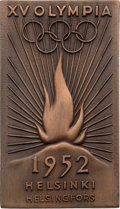 Miscellaneous Collectibles:General, 1952 Helsinki Summer Olympics Bronze Torchbearer's Plaque....