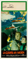 "Movie Posters:Science Fiction, The War of the Worlds (Paramount, R-1960s). Autographed ItalianLocandina (12"" X 26.5"").. ..."