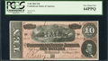 Confederate Notes:1864 Issues, T68 $10 1864. Five Digit Repeater Serial Number.. ...