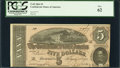 Confederate Notes:1864 Issues, T69 $5 1864. Solid Serial Number 7777.. ...