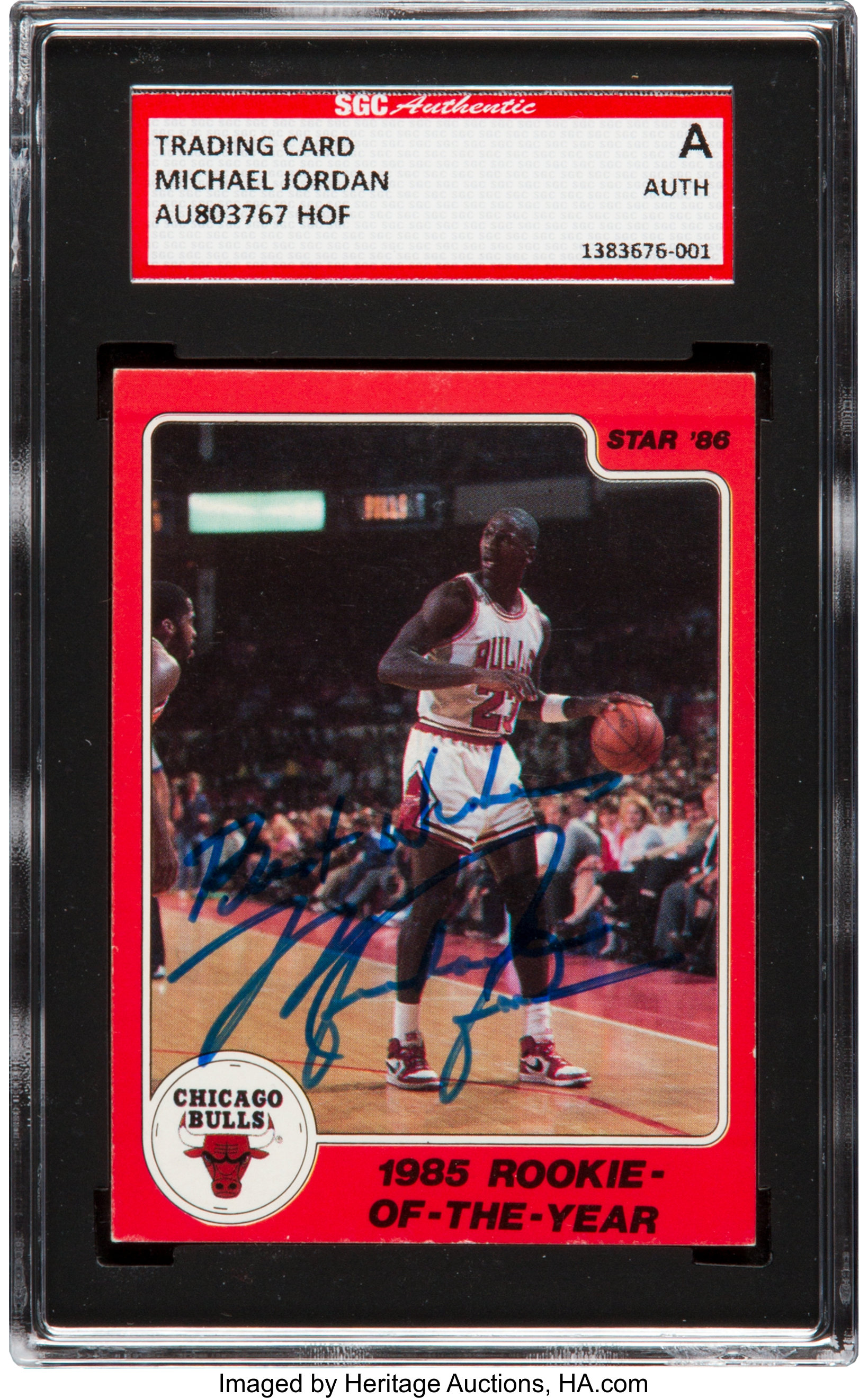 1985 86 Star Co Michael Jordan 6 Signed Sgc Authentic