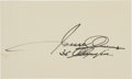 Miscellaneous Collectibles:General, 1960's Jesse Owens Signed Cut Signature....