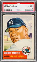 Baseball Cards:Singles (1950-1959), 1953 Topps Mickey Mantle #82 PSA EX-MT 6....