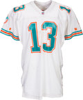 Football Collectibles:Uniforms, 1993 Dan Marino Signed Game Worn Miami Dolphins Jersey....