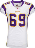Football Collectibles:Uniforms, 2009 Jared Allen Game Worn Unwashed Minnesota Vikings Jersey - Matched to 3 Games! ...