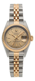Timepieces:Wristwatch, Rolex Datejust Ref. 69173 Lady's Two Tone Oyster PerpetualWristwatch Circa 1993. ...