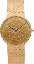 Timepieces:Wristwatch, Corum Very Fine $20 Gold Coin Wristwatch. ...