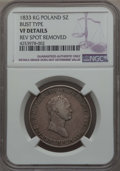 Poland, Poland: Alexander I of Russia 5 Zlotych 1833-KG VF Details (Reverse Spot Removed) NGC,...