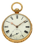 Timepieces:Pocket (pre 1900) , John Moncas 18k Gold Fusee Presented To Benito Juárez By William H. Seward 1866. ...