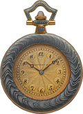 Timepieces:Pocket (post 1900), Tiffany & Co. Enamel & Gold Pendant Watch. ...