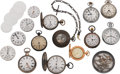 Timepieces:Other , A Selection Of Pocket Watches, Movements & Winding Keys. ...
