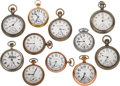 Timepieces:Pocket (post 1900), A Lot Of Eleven Open Face Pocket Watches. ... (Total: 11 Items)
