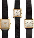 Timepieces:Wristwatch, Three Omega 14k Gold Wristwatches. ... (Total: 3 Items)
