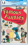 Platinum Age (1897-1937):Miscellaneous, Famous Funnies: A Carnival of Comics #nn (Eastern Color, 1933) CGC FR/GD 1.5 Cream to off-white pages....