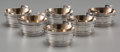 Silver Holloware, American:Open Salts, Six Tiffany & Co. Partial Gilt Silver Barrel-Form Salt Cellars,New York, New York, circa 1873-1891. Marks: TIFFANY & CO,... (Total: 6 Items)