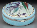 Silver Holloware, Continental:Holloware, A Continental Silver and Enameled Box, circa 1920. Marks:935, (M-tree-P). 1-1/2 inches high x 5-1/8 inches diameter(3....